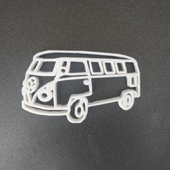 Download free 3D printer designs Van wolkswagen keychain, Motek3D
