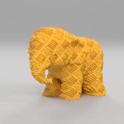 2254.png Télécharger fichier STL gratuit Elephant  • Modèle pour imprimante 3D, motek