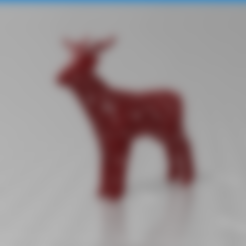 Free 3D printer designs Voronoi goat, Motek3D