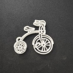 Download free 3D printer designs Bike keychain, Motek3D