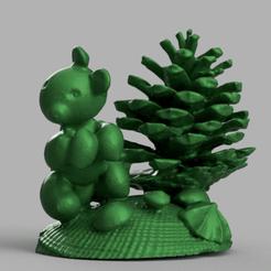 sapin ecureuil rendu 1 .png Télécharger fichier STL gratuit sapin ecureuil  • Plan pour imprimante 3D, Motek3D
