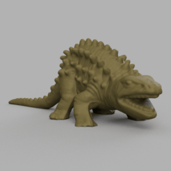 dino pic dos rendu 5.png Download STL file Back Peak Dinosaur • 3D print object, Motek3D