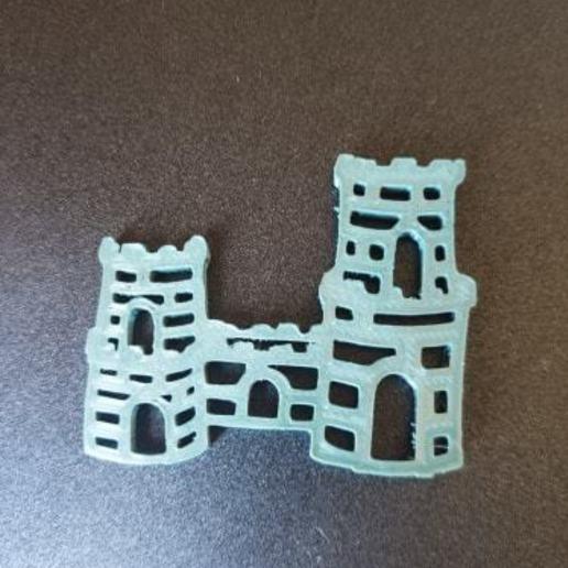 Download free 3D printing templates Castle keychain, Motek3D
