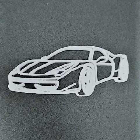 Download free 3D printer designs Ferrari keychain, Motek3D