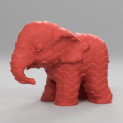 2247.png Download STL file Elephant • 3D printing object, motek