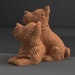 petit chien rendu 3 .png Download STL file Dog • 3D printing model, Motek3D