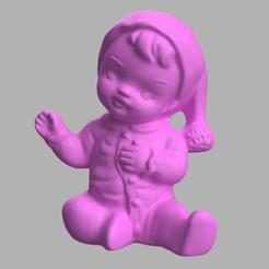 baby 2 rendu 1.png Download free STL file Baby • 3D printing model, motek