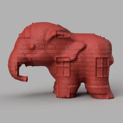 014.png Télécharger fichier STL Elephant  • Modèle pour imprimante 3D, motek