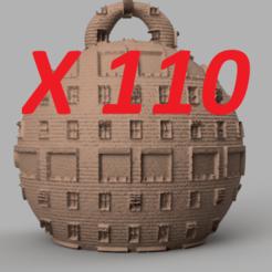 pres.png Télécharger fichier STL Christmas ball X110 • Modèle à imprimer en 3D, motek