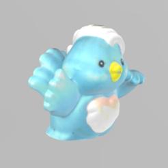 oiseau pres 2.png Télécharger fichier STL gratuit oiseau bleu • Objet imprimable en 3D, Motek3D
