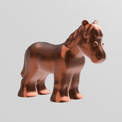 cheval pres.png Download STL file horse • 3D print design, motek