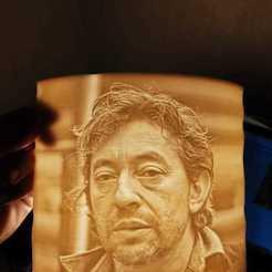 Download STL files Serge Gainsbourg lamp, Motek3D