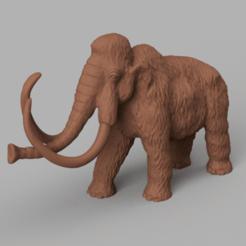 mamouth rendu 4.png Télécharger fichier STL Mammouth • Plan pour impression 3D, motek