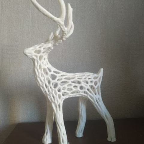 Download free 3D print files Voronoi deer, Motek3D