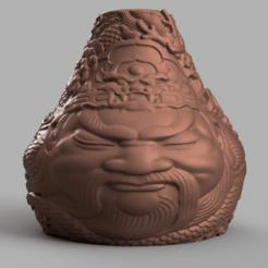 Télécharger fichier STL Vase buddha 1 , Motek3D