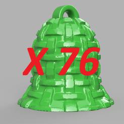 pres.png Télécharger fichier STL cloche de noel X76 • Plan imprimable en 3D, motek