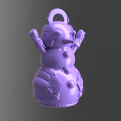 24.png Télécharger fichier STL gratuit Bonhomme de neige • Design imprimable en 3D, motek