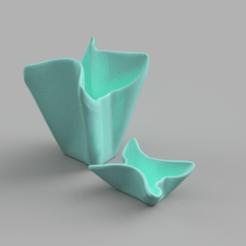 Télécharger STL gratuit vase cloth effect, Motek3D