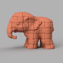 025.png Télécharger fichier STL Elephant  • Modèle pour imprimante 3D, motek