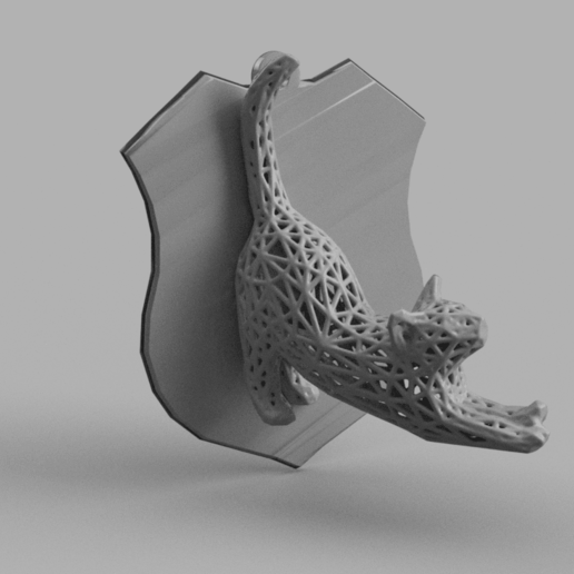chat 1 .png Download STL file vorono cat • Object to 3D print, motek