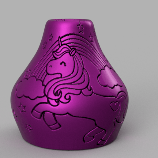 Download free STL files Unicorn Vase, Motek3D
