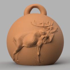 deer 21.png Télécharger fichier STL Boule de noel renne 2  • Plan pour impression 3D, motek
