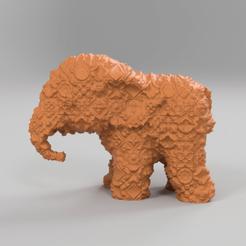 268.png Download free STL file Elephant • 3D printing object, motek