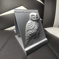 Download free 3D printing files Owl Phone Holder, Motek3D