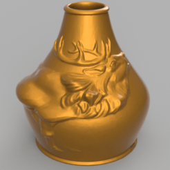 Download STL files Deer Vase, Motek3D