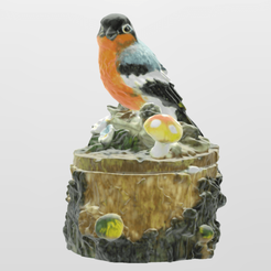 oiseaux texture.png Download STL file Tree trunk bird • 3D print design, Motek3D