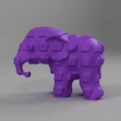 0057.png Télécharger fichier STL Elephant  • Modèle pour imprimante 3D, motek
