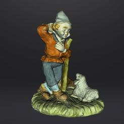 clown brebis text 1.png Download STL file Sheep clown against a tree • 3D printable design, Motek3D