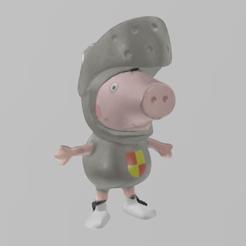 peppa pig chevalier pres 1.png Download free STL file Peppa pig chevalier • 3D printable template, Motek3D
