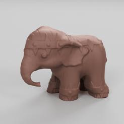 075.png Télécharger fichier STL Elephant  • Modèle pour imprimante 3D, motek