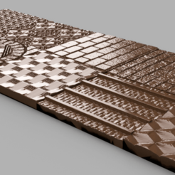 Download 3D printing templates X 35 Textures floor wall, Motek3D