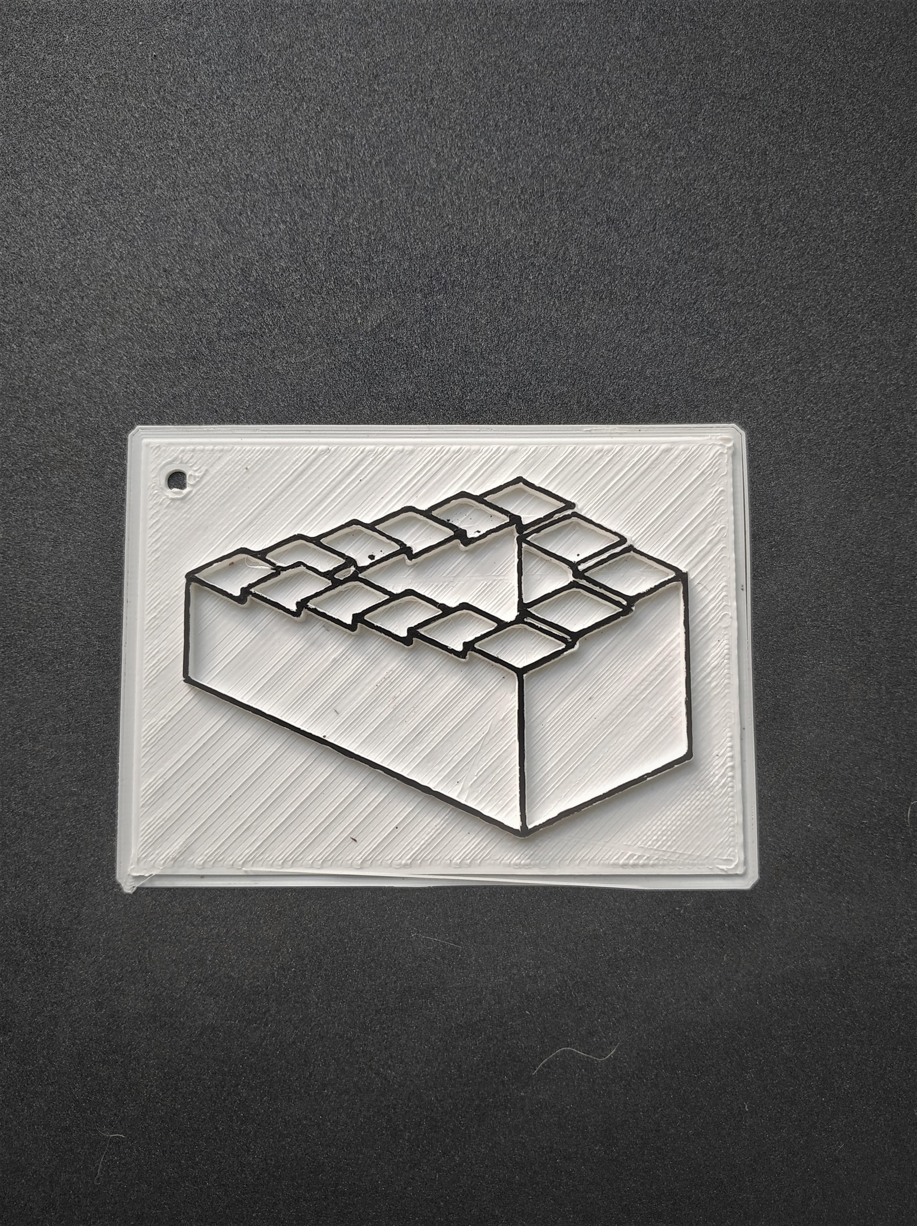 67929060_2139687826324469_2517815227412643840_n.jpg Télécharger fichier STL gratuit Illusion d'optique escalier • Plan pour imprimante 3D, motek