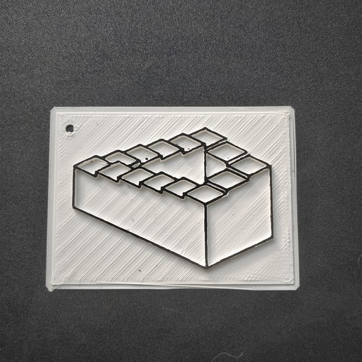 Télécharger fichier imprimante 3D gratuit Illusion d'optique escalier, Motek3D