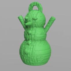 20.png Télécharger fichier STL gratuit Bonhomme de neige • Design imprimable en 3D, motek