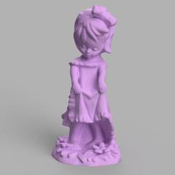 fille a fleur rendu 5 .png Download STL file flower girl • 3D printing object, motek