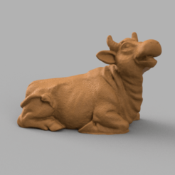 vache rendu 3 .png Download STL file Sitting cow • Object to 3D print, Motek3D