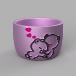 Télécharger plan imprimante 3D gatuit Pot Bear and Emoji, Motek3D