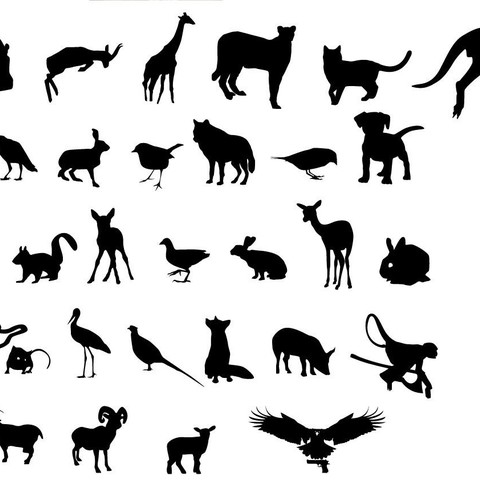 animaux.jpg Download free STL file 2D animals • 3D printer template, Motek3D