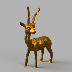 cerf pres rendu 4 .png Download STL file Gazelle • 3D printable design, motek