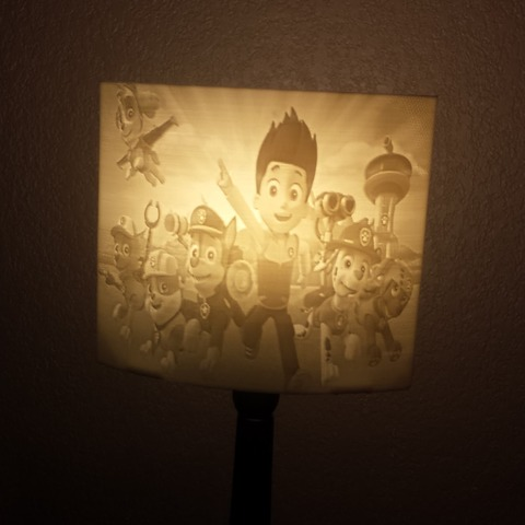 Download free STL files pat patrol lamp, Motek3D