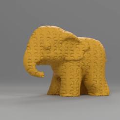 051.png Télécharger fichier STL Elephant  • Modèle pour imprimante 3D, motek