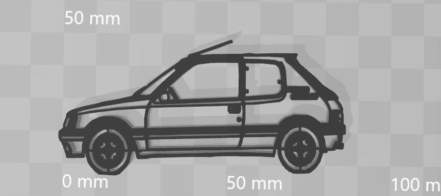 205 present.png Télécharger fichier STL Peugeot 205 keychain • Objet pour impression 3D, motek
