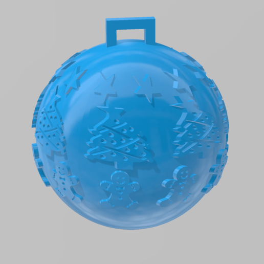 boule de noel 1.png Download free STL file christmas ball 1 • 3D printable object, Motek3D