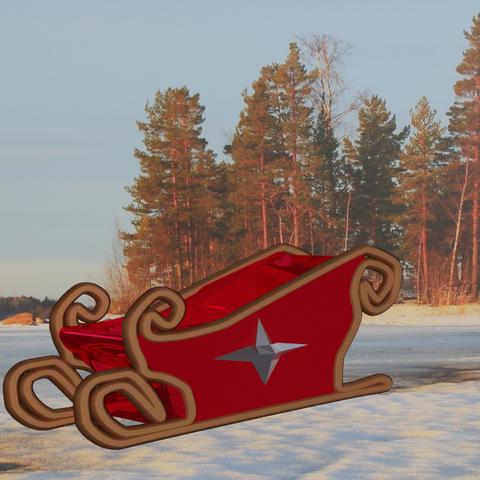 Download free STL file Santa Sleigh, Motek3D