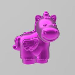 licorne rose 1.png Download free STL file Pink Unicorn • 3D printable design, motek