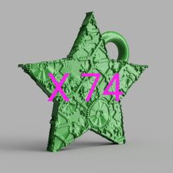 IMG_20201108_185225.png Download STL file Christmas Star X74 • 3D printer template, motek